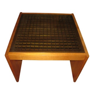 Mid-Century Modern Komfort Geometric Teak Coffee Table For Sale