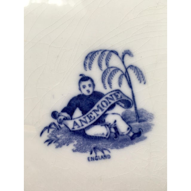 Blue 19th Century Chinoiserie Ironstone Transferware Platter For Sale - Image 8 of 9