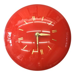 1950s Retro Mid-Century Clock For Sale