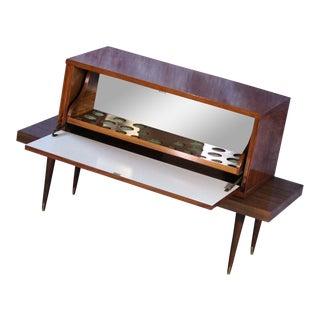 Mid-Century Modern Walnut Bar & Cabinet