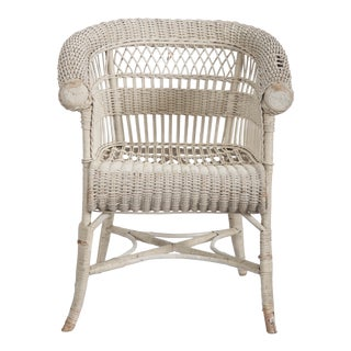 Rare Vienna Secession Wicker Armchairs by Hans Vollmer for Prag-Rudniker For Sale