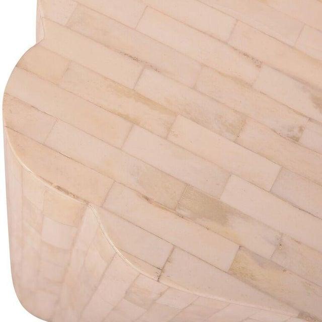 Bone Inlay Rectangular Side Table - Image 3 of 4