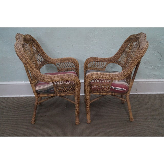 Quality Outdoor Wicker Patio Set - 4 Pieces - Image 8 of 10
