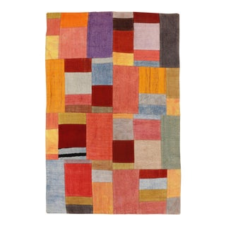 "Turkish Patchwork Rug - 3'11"" X 5'10"" For Sale"