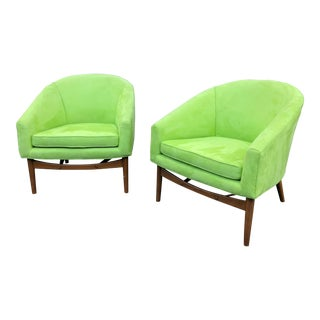 Mid Century Modern Lawrence Peabody Chairs - a Pair For Sale