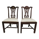 Image of Modern Maitland Smith Dining Room Side Chairs - a Pair For Sale
