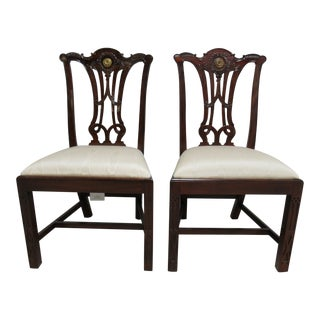 Modern Maitland Smith Dining Room Side Chairs- A Pair For Sale