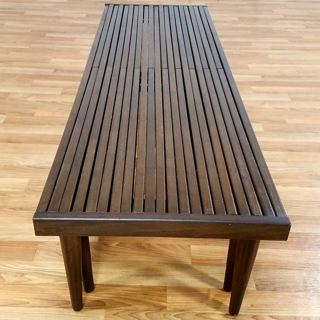 Brown Saltman Slat Bench - Image 6 of 10