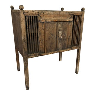 Rustic Indonesian Cabinet With Tall Legs For Sale