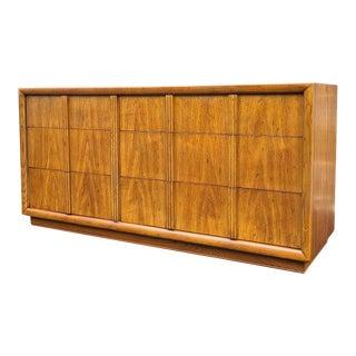 Walnut Low Dresser by Henredon Fine Furniture For Sale