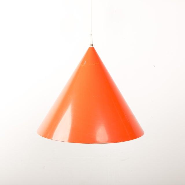 1960s Mid-Century Orange Billiard Pendant by Arne Jacobsen for Louis Poulsen For Sale - Image 10 of 10
