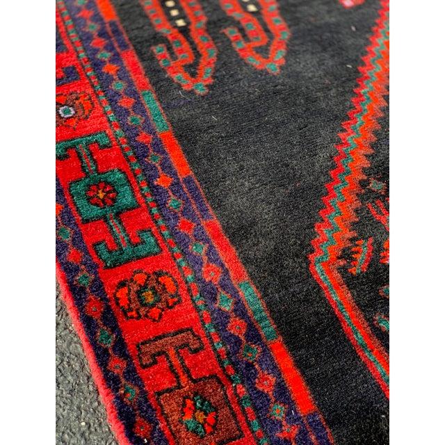 1960s Vintage Persian Bijar Runner Rug - 4′3″ × 11′4″ For Sale - Image 4 of 13