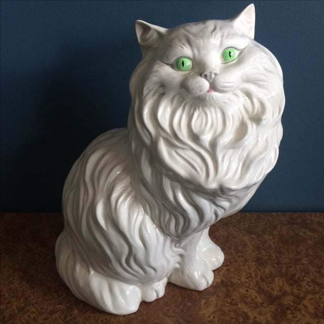 White Ceramic Cat - Image 2 of 8