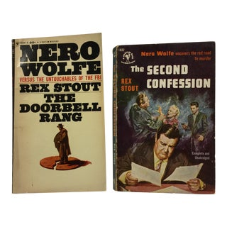 Nero Wolfe Mystery Novels by Rex Stout - A Pair
