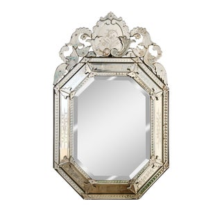 Large Octagonal Venetian Mirror For Sale