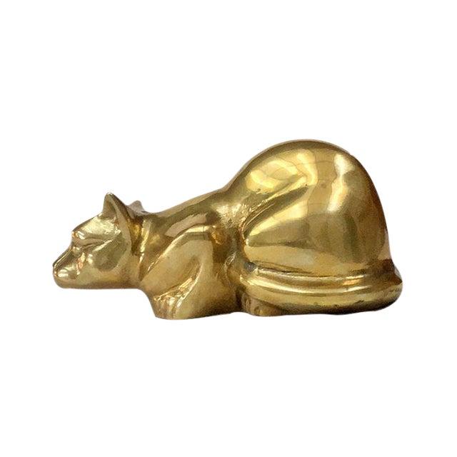 Vintage Brass Cat - Image 1 of 4