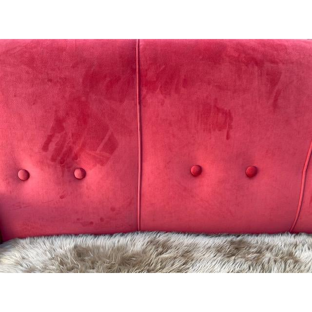 Exuberant Maurice Mourra Mid-Century Sofa For Sale In Los Angeles - Image 6 of 10
