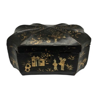 1830 Chinese Papier Mache Box For Sale