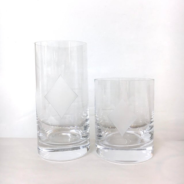 58840674d37 Kate Spade  Gin Rummy  Crystal Barware - Set of 8 For Sale - Image