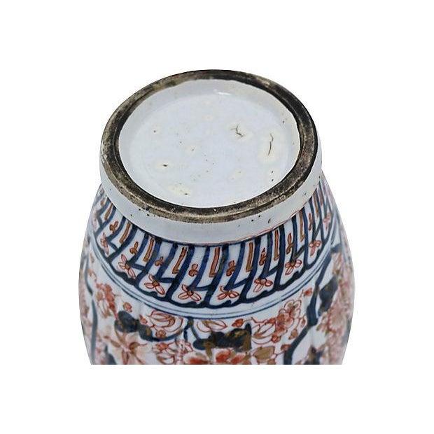 Imari Porcelain Antique Imari Japanese Porcelain Urn For Sale - Image 4 of 5
