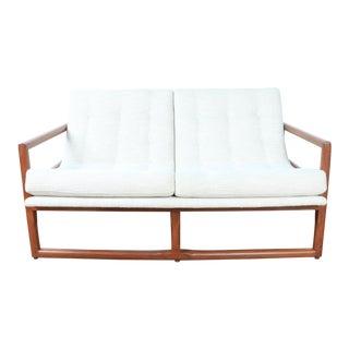 Milo Baughman Scoop Style Loveseat Sofa For Sale