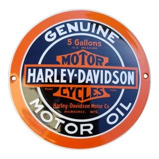 Enamel Harley Davidson Sign