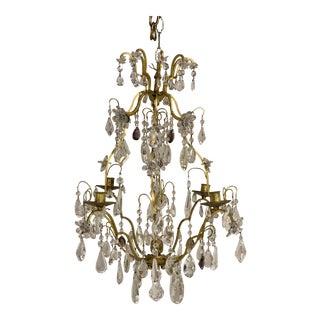 1930s French Bagues Crystal Chandelier For Sale