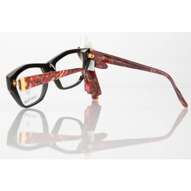 1980s 1980s Louis Feraud Parrot Marble Burgundy Glasses Frames for Sunglasses For Sale - Image 5 of 6