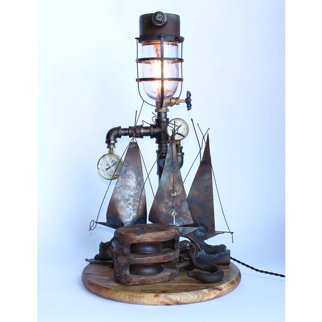 Vintage Nautical Lamp - Image 2 of 7