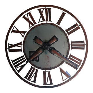 19th C. French Clock Tower Face For Sale