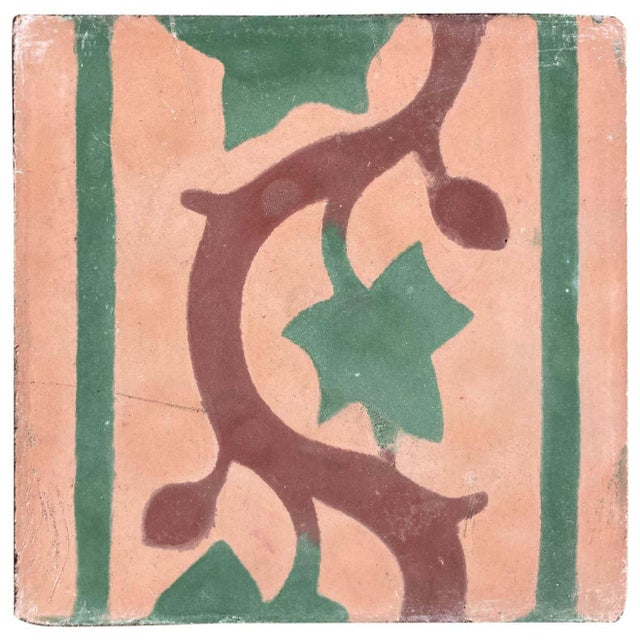 Moroccan Encaustic Cement Tile Sample For Sale - Image 9 of 9