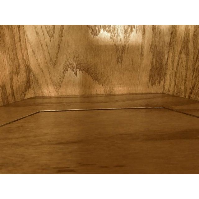 Solid Oak Corner Display Cabinet For Sale - Image 11 of 12