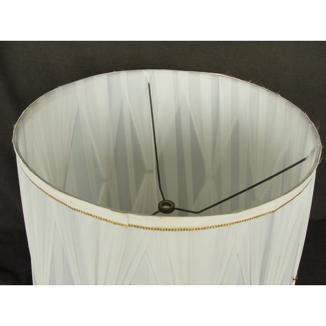 Vintage Mid-Century Modern Cloth Lamp Shade - Image 5 of 7