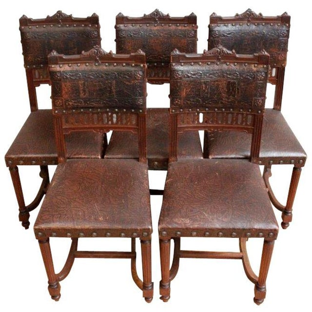 French Antique Dining Chairs - Set of 5 - Image 2 of 5