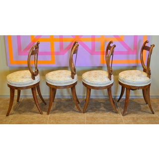 Early 19th Century Antique Lyre Back Biedermeier Chairs- Set of 4 Preview