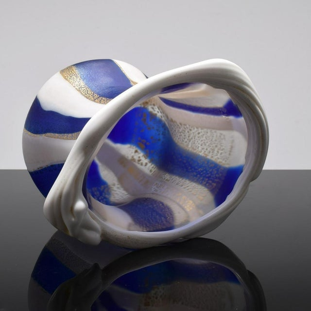 Glass Japanese Art Glass Sculptural Vessel by Kyohei Fujita For Sale - Image 7 of 12