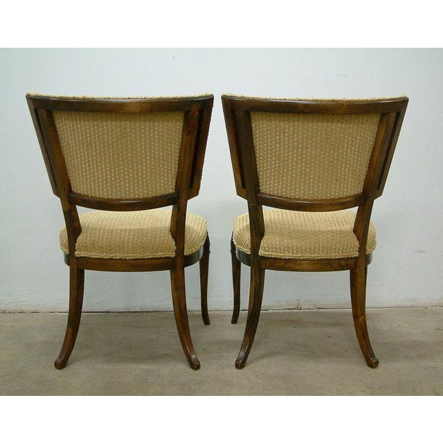 1930s Beechwood Klismos Chairs - A Pair For Sale - Image 4 of 8