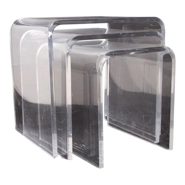 Shlomi Haziza Lucite Nesting Tables - Set of 3 For Sale
