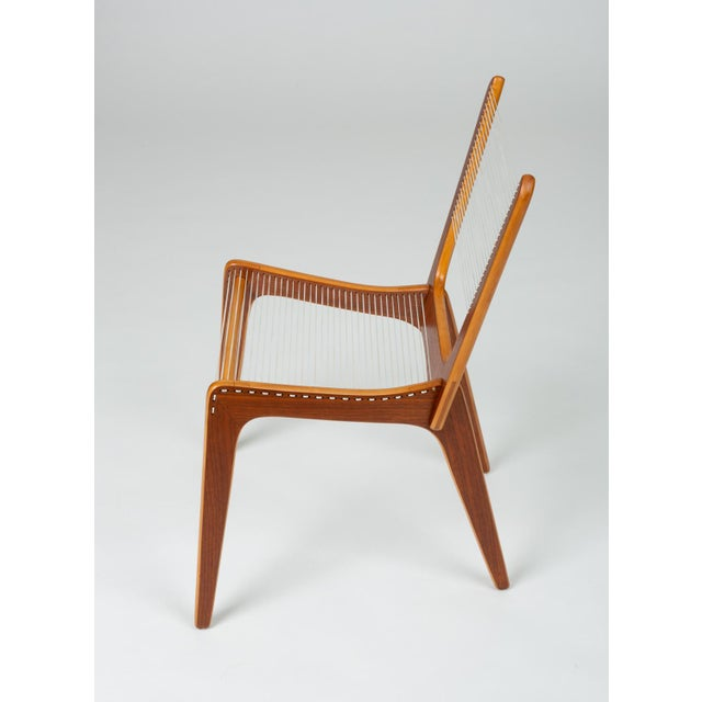 1950s Pair of Canadian Modernist Cord Chairs by Jacques Guillon For Sale - Image 5 of 13