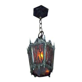 Gothic Cast Bronze Hanging Lantern For Sale