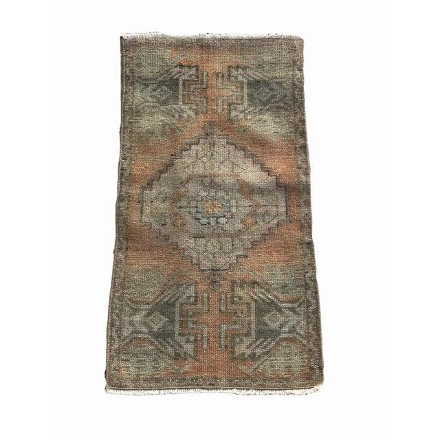 "Textile Hand Made Turkish Yastik Rug With Nomadic Design- 1'6"" X 2'10"" For Sale - Image 7 of 7"