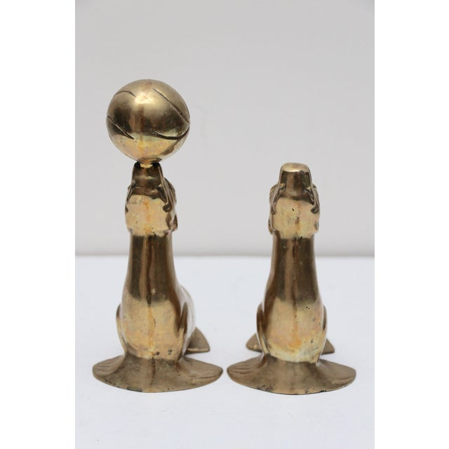 Brass Seal Bookends - A Pair - Image 5 of 6