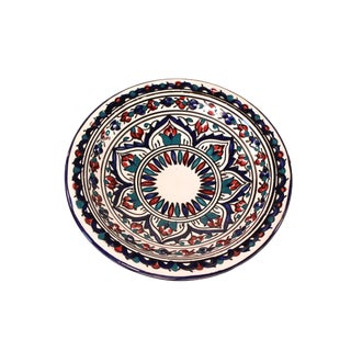 Hand-Thrown & Painted Moroccan Bowl For Sale