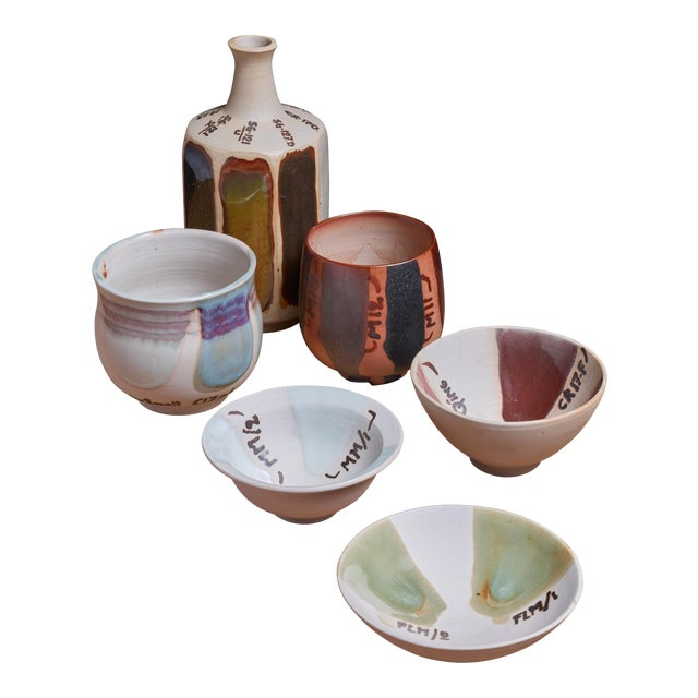 Rolf Palm Experimental Ceramic Set of Six Pieces, Sweden, 1990s For Sale