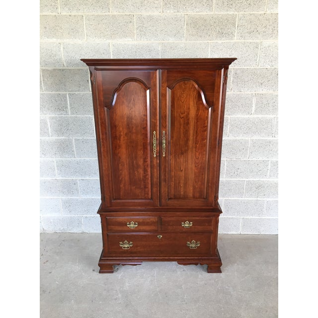 Pennsylvania House Cherry Chippendale Style Armoire For Sale - Image 13 of 13