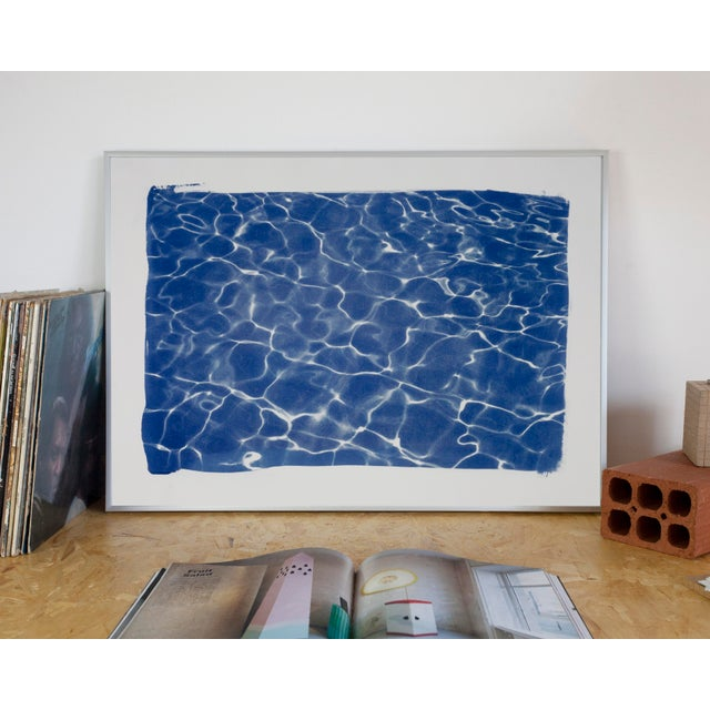 Limited Edition Swimming Pool Water Reflection Cyanotype Print - Image 5 of 11