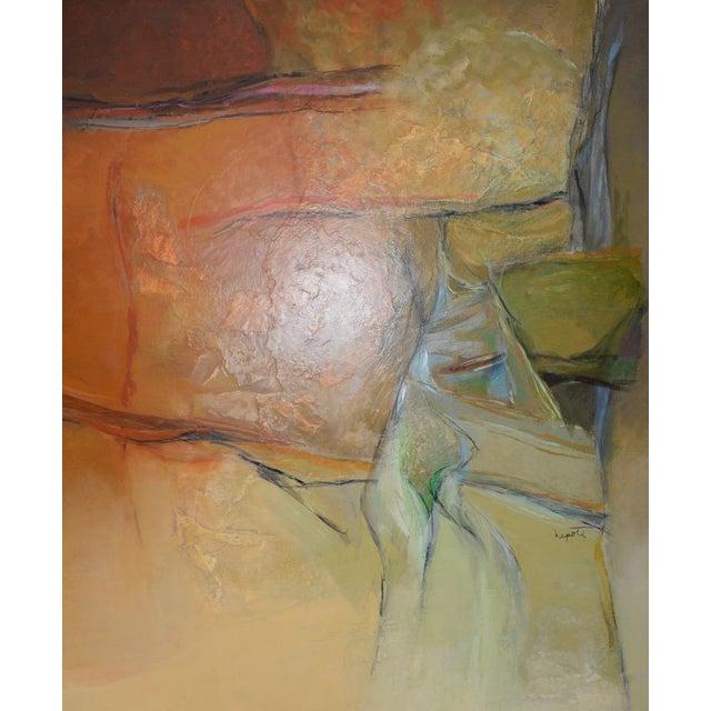 "Canvas Alexander Nepote ""Summit Bluff"" Monumental Modernist Landscape C.1970 For Sale - Image 7 of 12"