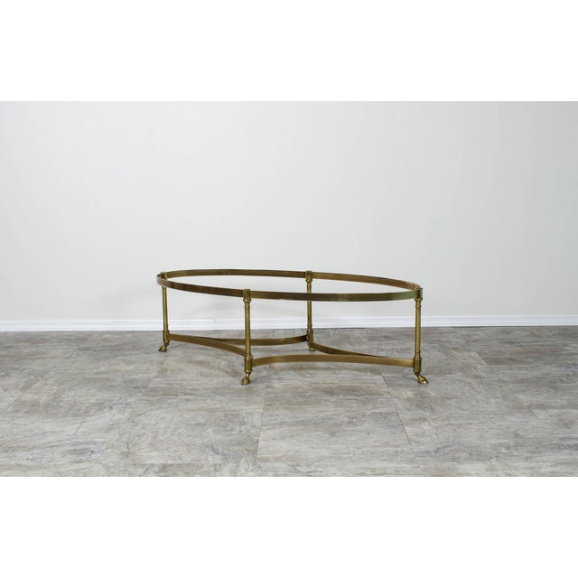 Hollywood Regency Mid Century Labarge Brass Coffee Table, Brass Coffee Table For Sale - Image 3 of 12