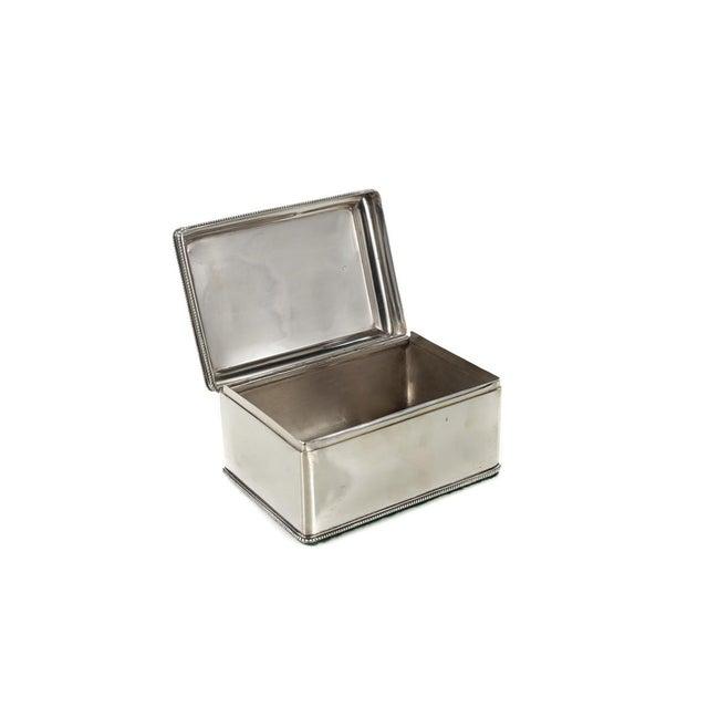 Silver Dutch Silver Biscuit Box Mark of Bonebakker For Sale - Image 8 of 9
