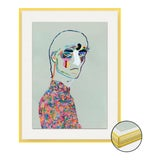 Image of Dries van Noten SS20 by Robson Stannard in Light Yellow Acrylic Frame, XS Art Print For Sale